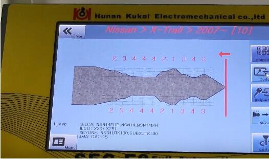 How-to-use-SEC-E9-key-machine-for-Nissan-key-decoding-and-cutting-13